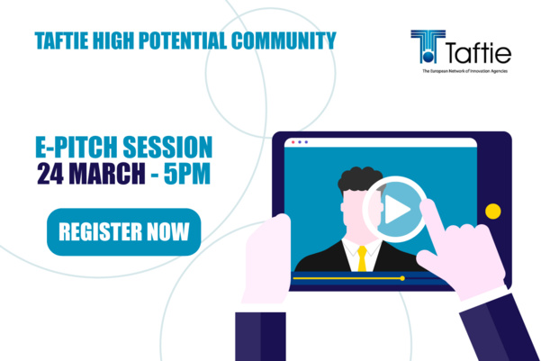 Join the Taftie E-Pitch session on March 24 at 05:00PM CET