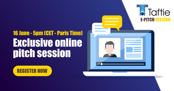 Join the Taftie E-Pitch session on June 16th at 05:00 PM CEST