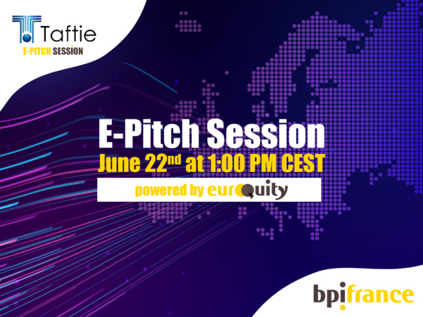 Join the 11th Taftie High Potential E-Pitch session on June 22nd at 01:00 PM CEST