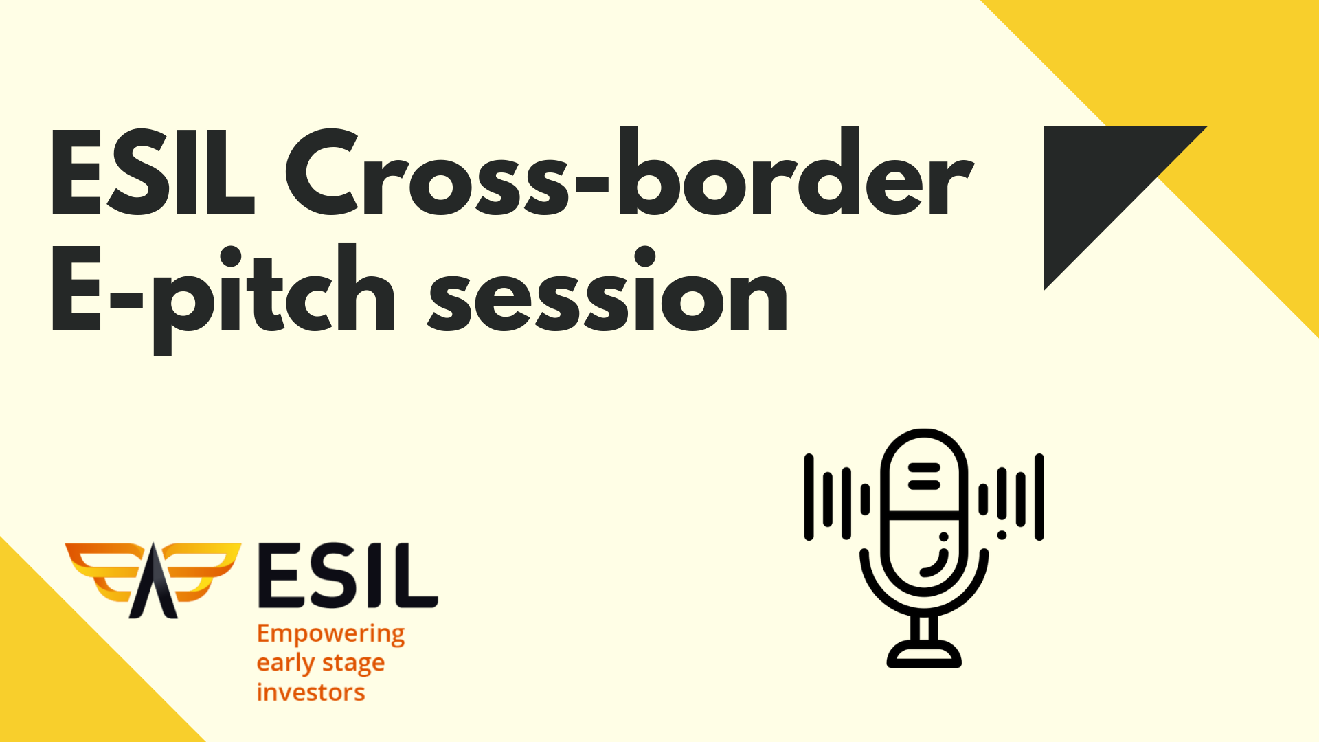 Register to the next ESIL e-pitch session featuring Medtech startups, on June 25th at 5:00 PM CEST