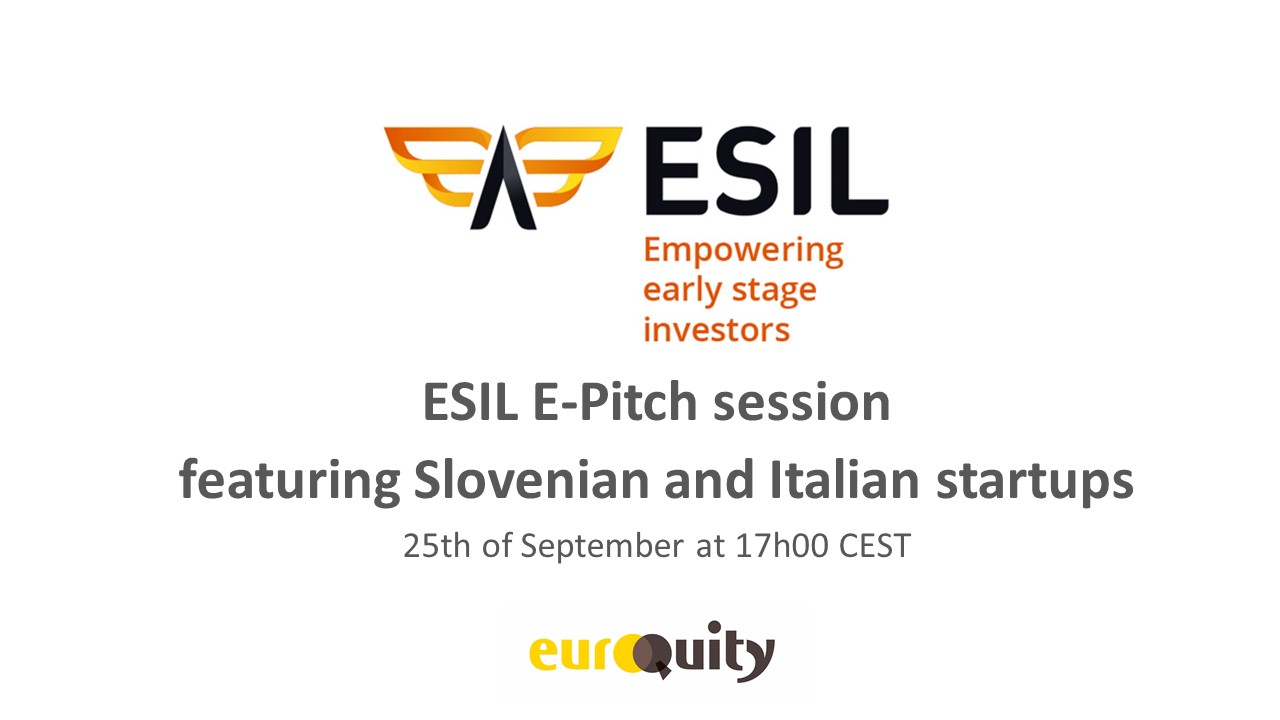 Register to the next ESIL e-pitch session featuring Slovenian and Italian startups, on September 25th at 5:00 PM CEST