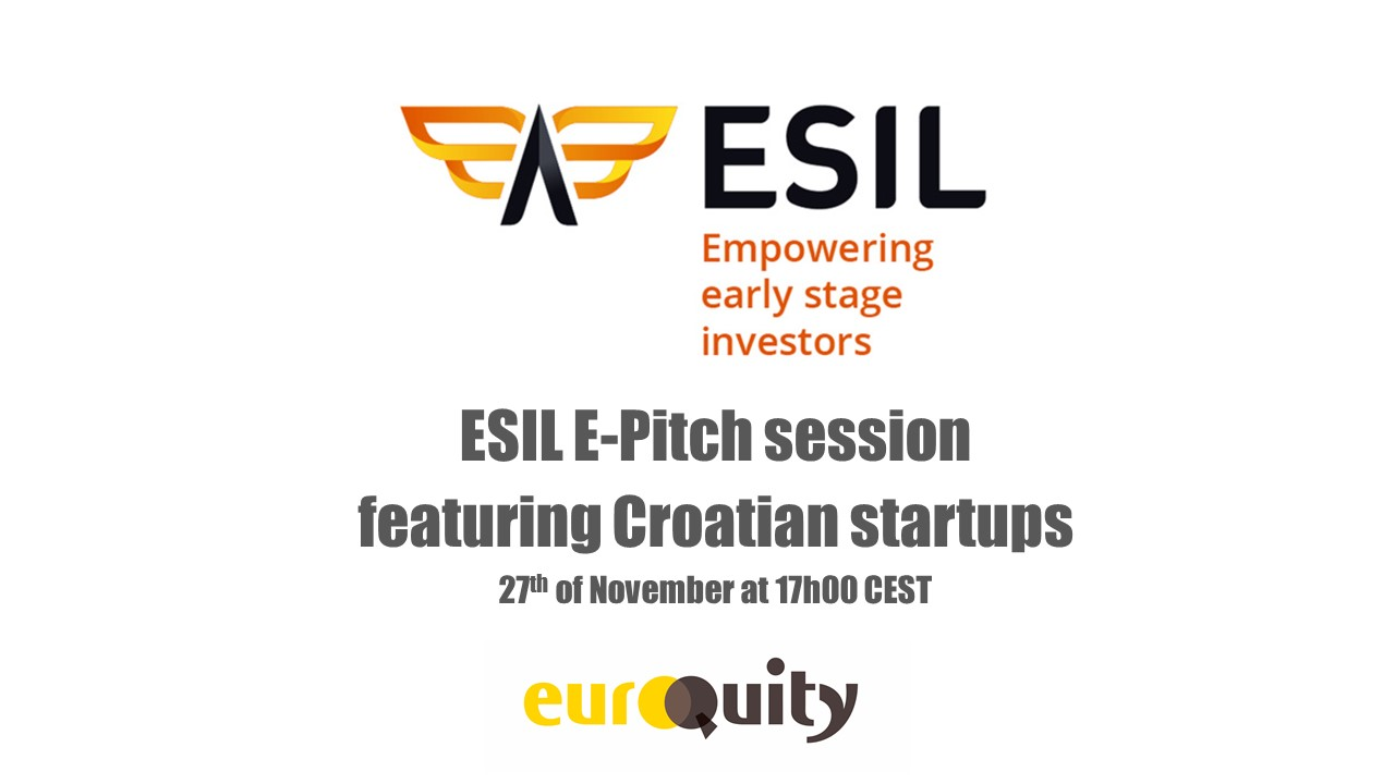 Register to the next ESIL e-pitch session featuring Croatian startups, on November 27th at 5:00 PM CEST