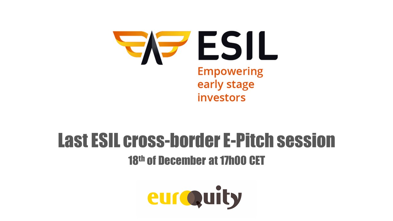 Register to the last ESIL cross-border e-pitch session, on December 18th at 5:00 PM CEST