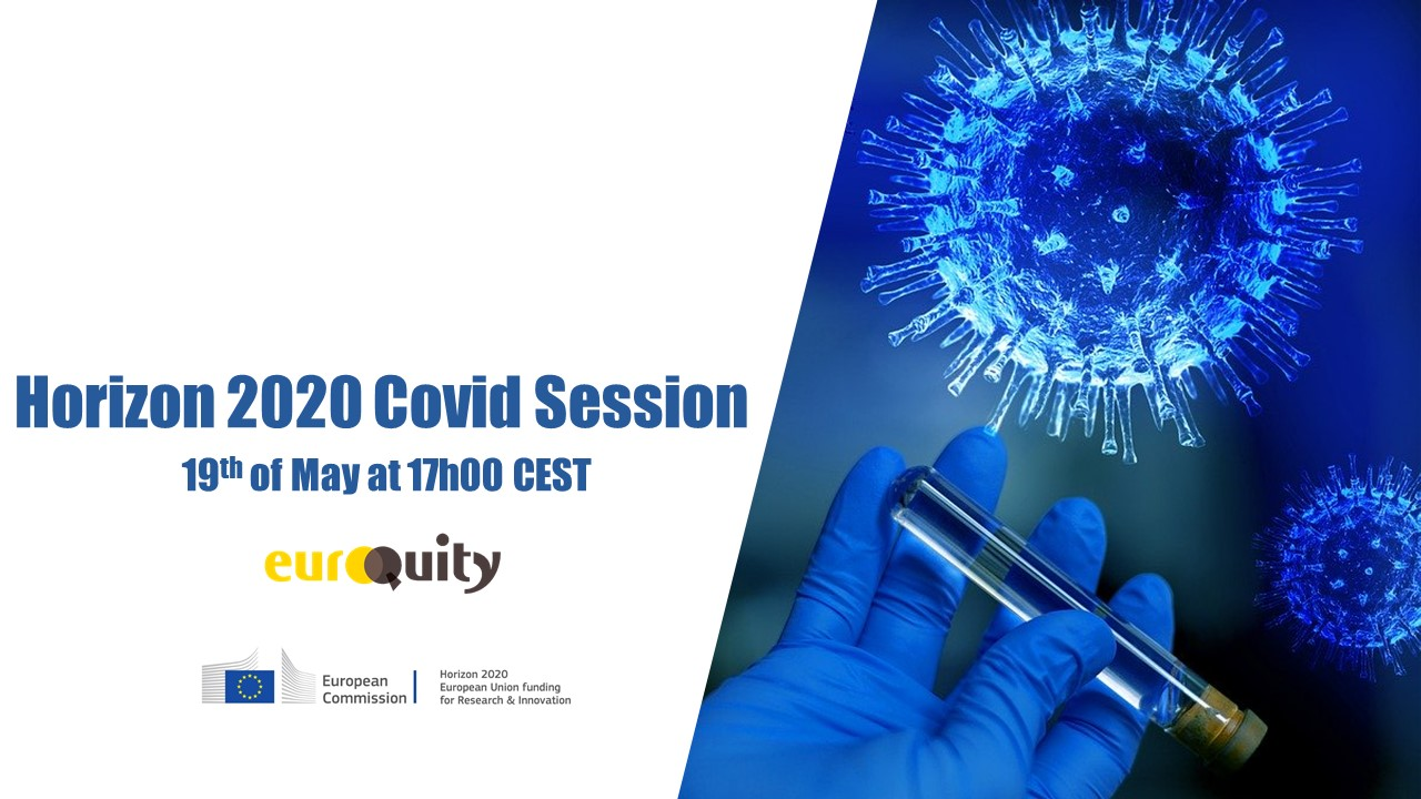 European entrepreneurs presenting solutions for managing COVID - 19th of May at 17:00 CEST