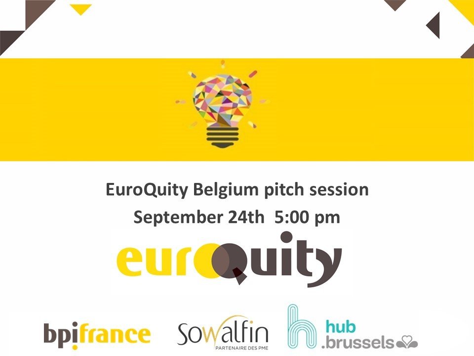 Join the next Belgian E-Pitch session on the 24th at 5:00 PM CEST