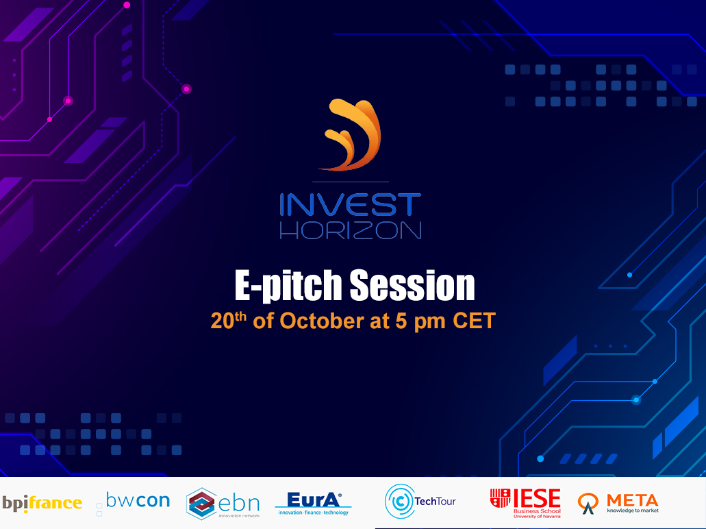 Join the InvestHorizon e-pitch Session Healthtech on October the 20th at 5:00pm