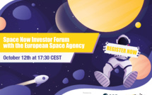 Join the first Space Now Virtual Investor Forum with ESA next October 12 at 17:30 CEST