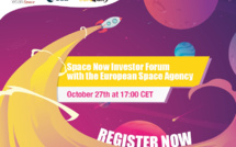 "The second edition of ""Space Now Virtual Investor Forum"" with ESA will be held on October 27 at 17:00 CET"