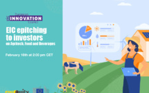 EIC epitching to investors on Agritech, food and beverages powered by EuroQuity on February 16 at 2pm CET