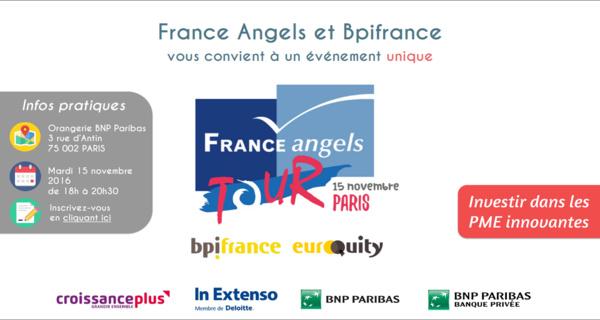 Découvrez comment investir dans des PME innovantes au France Angels Tour à Paris le 15 novembre 2016