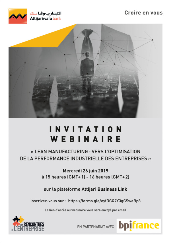 Webinaire Attijari Business Link : Lean Manufacturing: Vers l'optimisation de la performance industrielle des entreprises