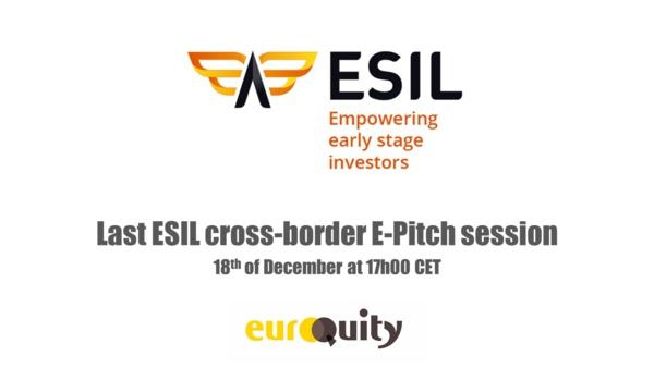 La dernière session E-pitch d'ESIL aura lieu le Mercredi 18 Decembre à 17h00 CET