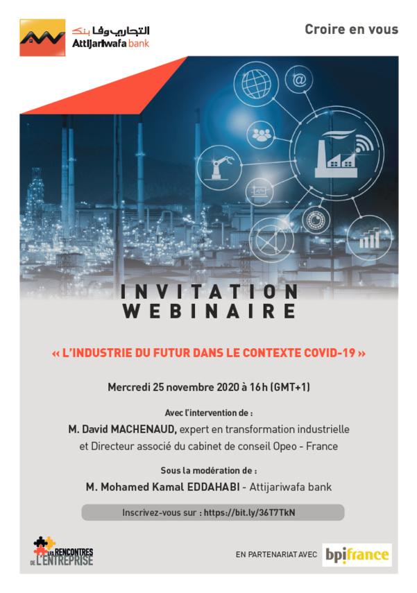Rejoignez le webinaire Attijariwafa Bank le 25 novembre à 16h!