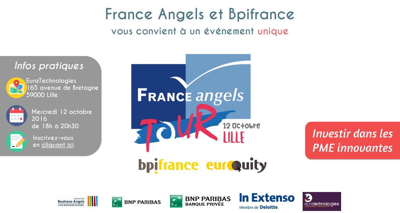 Découvrez comment investir dans des PME innovantes au France Angels Tour à Lille - 12 octobre 2016