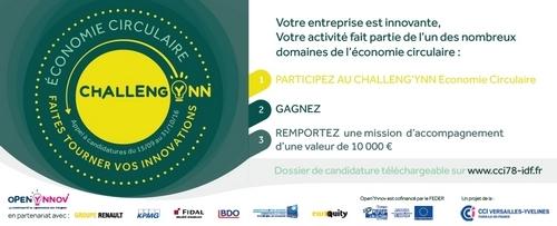 Startup et PME innovantes : Candidatez au Challeng'Ynn Economie Circulaire !