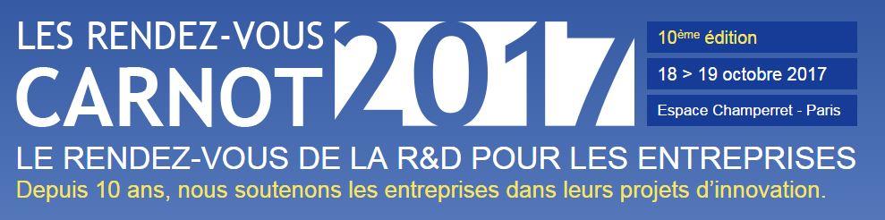 Postulez pour intégrer l'espace Start-up & PME Innovantes pour le Rendez Vous Carnot 2017 !