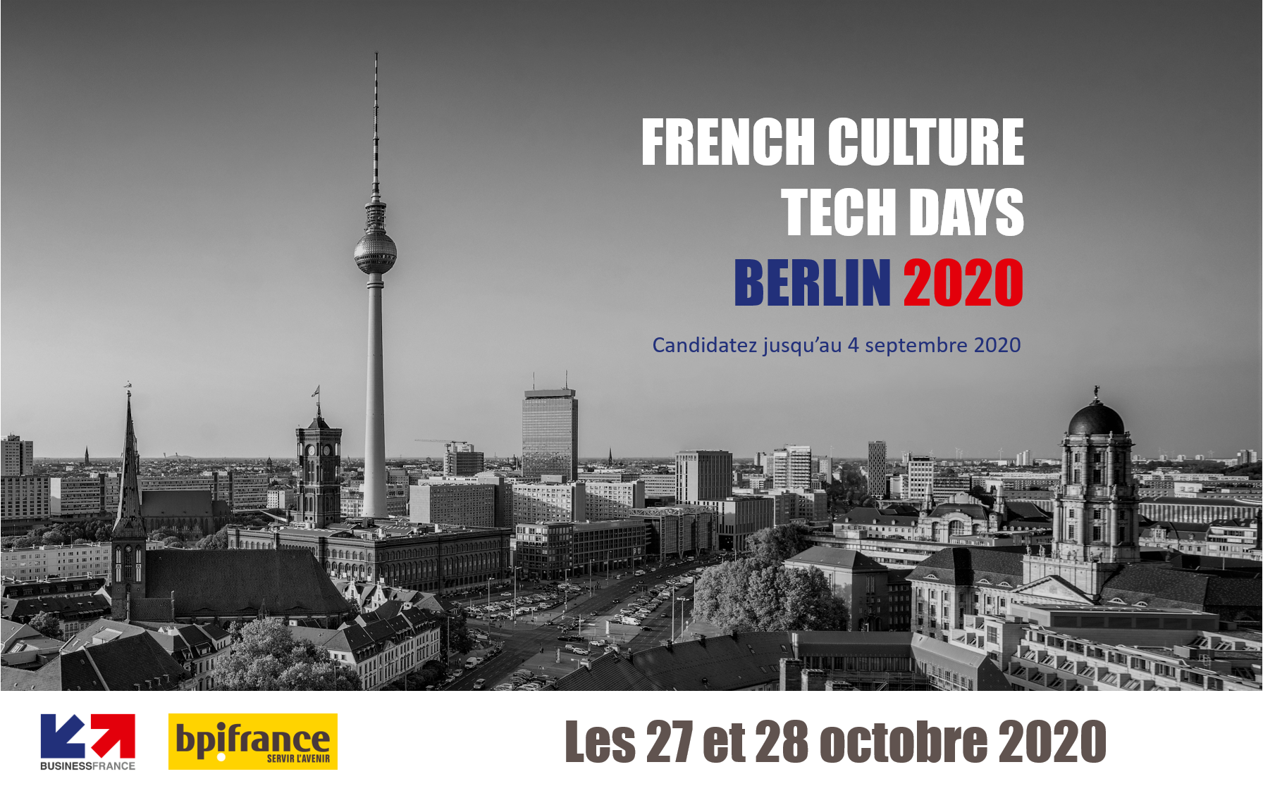 French Culture Tech Days Germany Berlin 2020 – Candidatez avant le 4 septembre