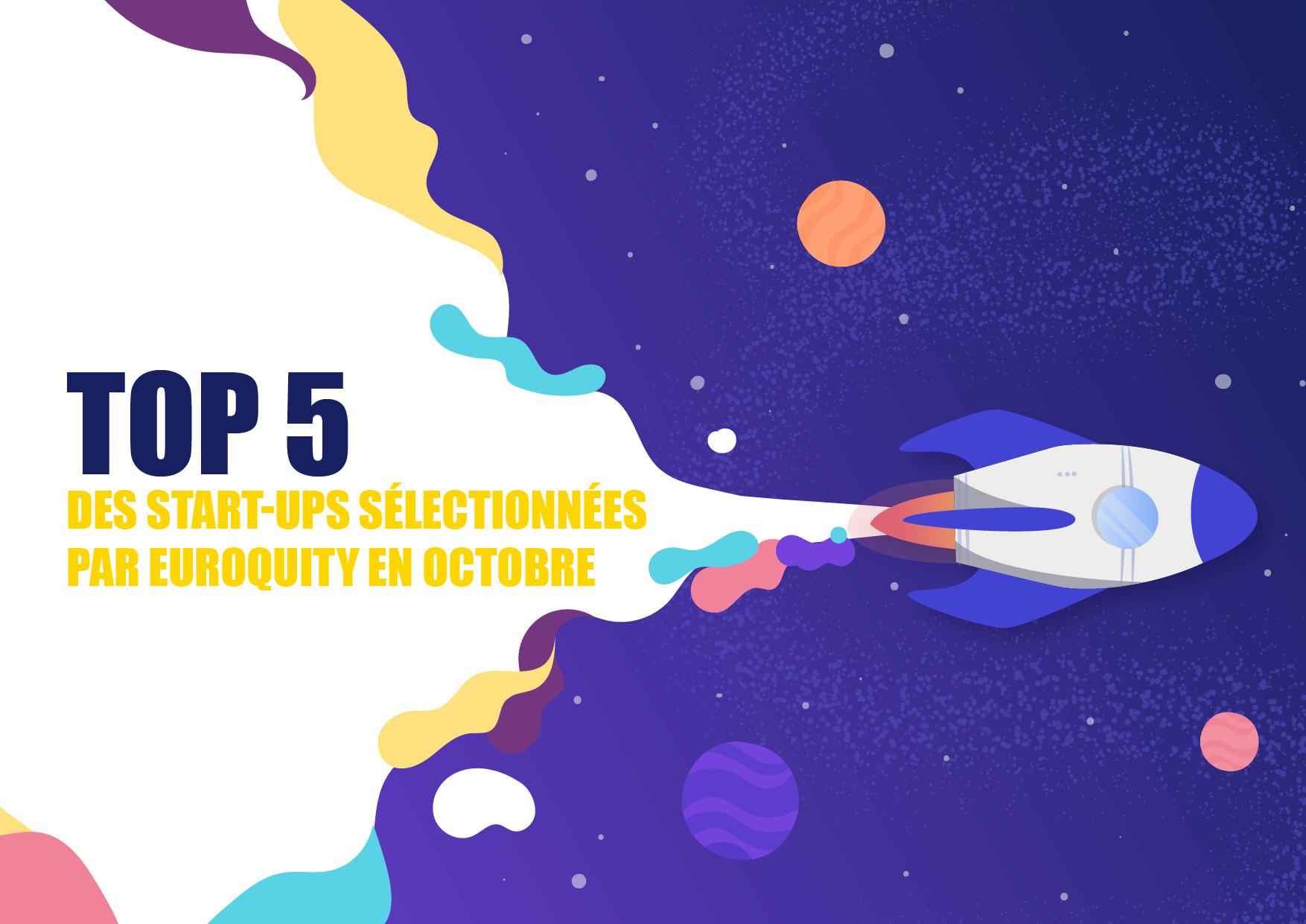 Les 5 start-ups sélectionnées pour la session e-pitch France du 29 Octobre 17:00 CEST