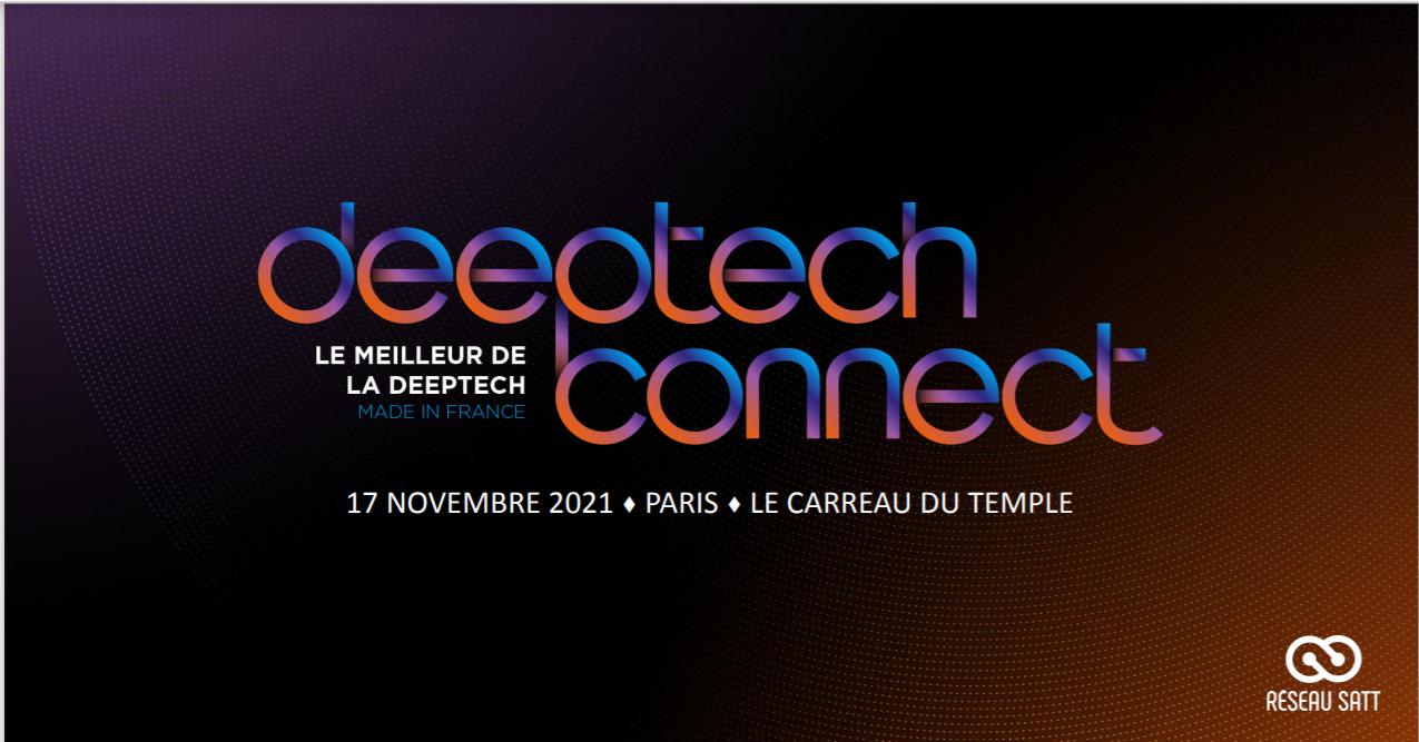 La DeepTech Connect arrive à Paris le 17 novembre 2021